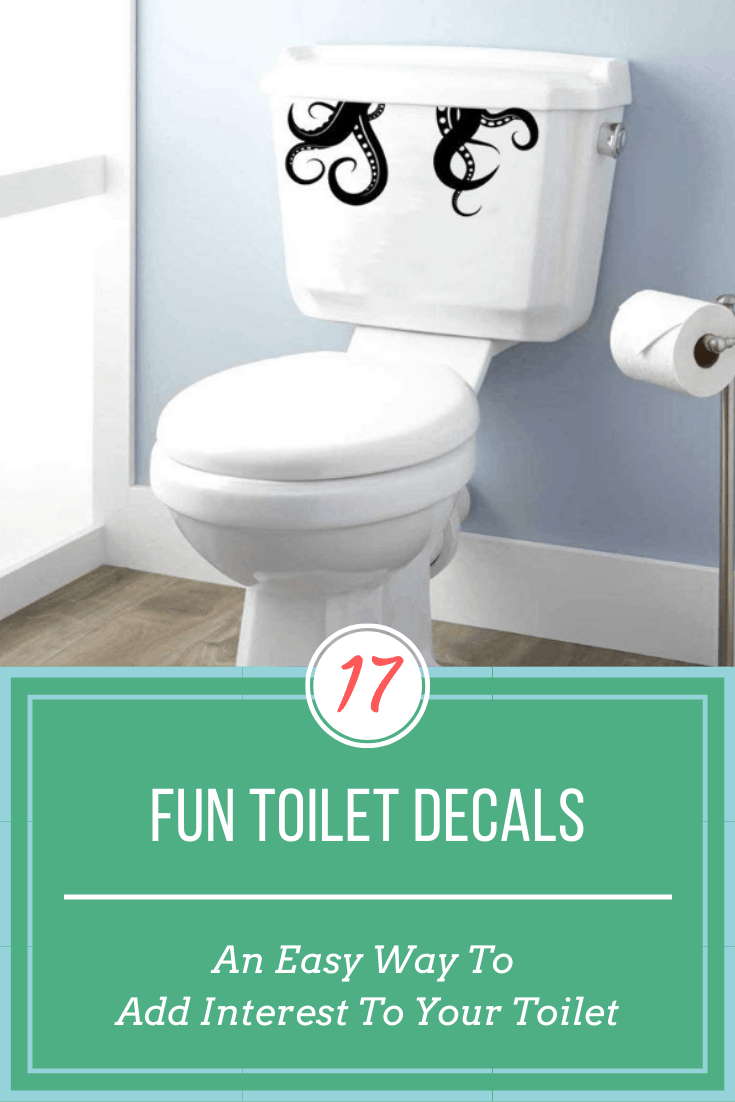fun toilet decals