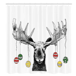 christmas themed shower curtains