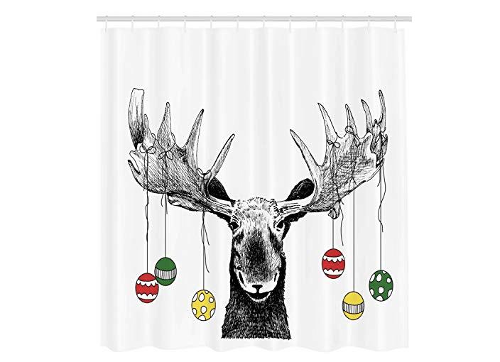 21 Fun Christmas Themed Shower Curtains